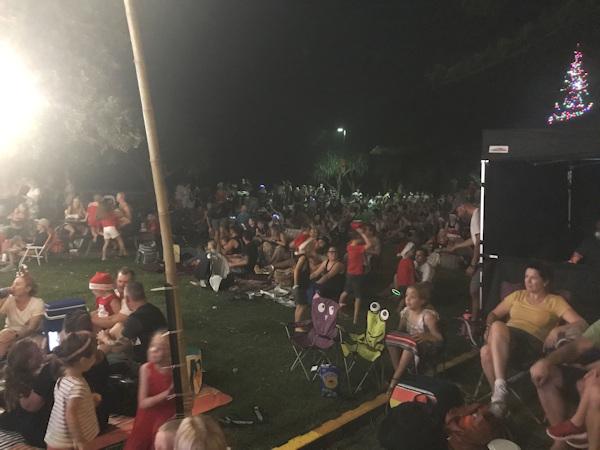 Christmas Carol revelers enjoying hear Game of Tones at Burleigh Heads 2019