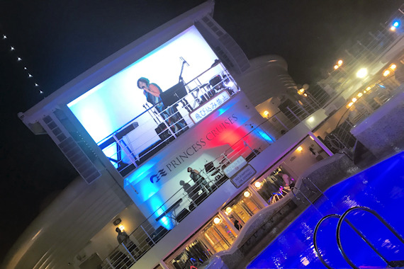 Ronda performing on Princess Cruise