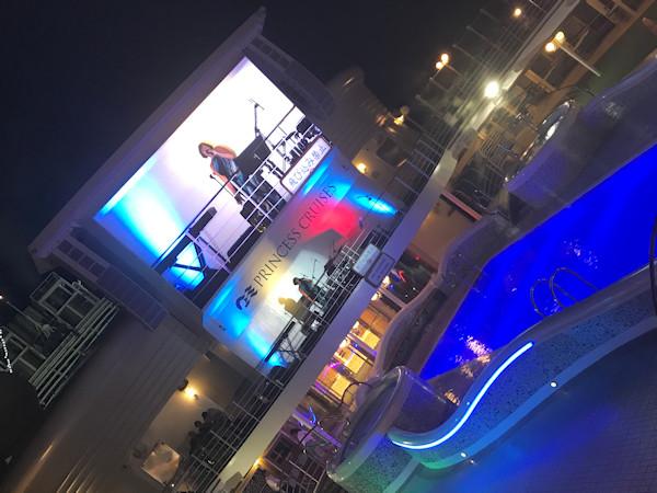 Ronda performing on Princess Cruise