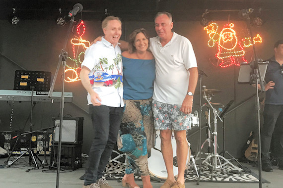 Darren, Ronda and Harry at the Burleigh Christmas carols