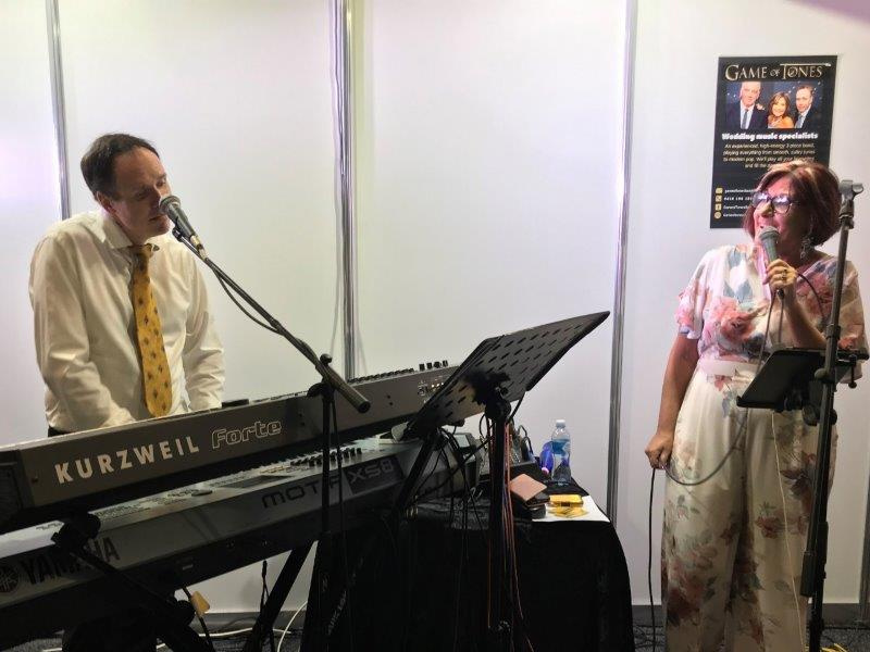 Ronda and Darren from Game of Tones performing at the Wedding and Honeymoon Expo Brisbane
