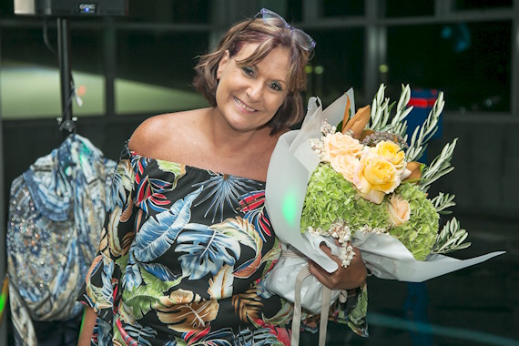 Ronda from Game of Tones with flowers