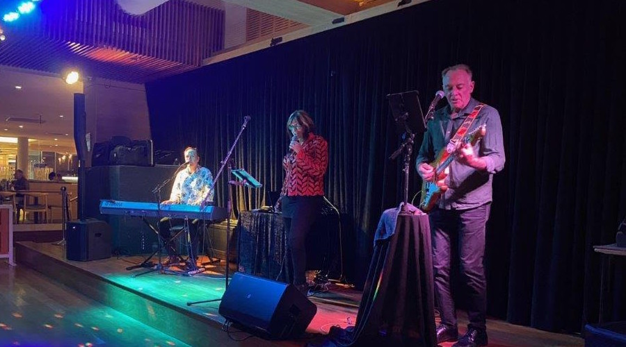 The Game of Tones band playing at Southport Sharks